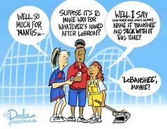 LeBanshee cartoon (DSL art and photos) Tags: mantis banshee rollercoaster cedarpoint lebronjames editorialcartoon kingjames donlee publicpressure sanduskyregister selfappointedmoralguardians rideattendants sweeperette