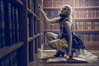 Dark tales and the rose of solitude (Clinton lofthouse Photography) Tags: history fairytale photoshop cosplay library leeds books fantasy belle conceptual cinematic retouching darkfairytale costumephotography