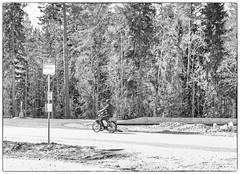 Going Places (Xerethra) Tags: people bw 35mm geotagged spring europa europe candid skandinavien may streetphoto sverige moped scandinavia maj vår svartvit järfälla kallhäll 2013 berghem stockholmslän nikond80 slammertorpsvägen slammertorpsvägenkallhällstockholmslänsverige