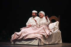"Bob Amaral and Adrienne Barbeau as Tevye and Golde in the Music Circus production of ""Fiddler on the Roof"" at the Wells Fargo Pavilion Aug 14-19. Photo by Charr Crail."