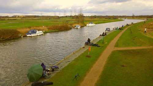 River fishing at Beccles Suffolk uk