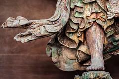 Billowing (campra) Tags: japan narita chiba 成田 千葉 buddhist temple sculpture wood niō foot robe fold