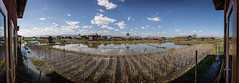 Inle Lake Panorama 01 (::darren::) Tags: myanmar south east asia outdoor landscape skyline sun silhouette panorama clouds ancient world heritage site sky reflection lake river water farm farmig gardens inle biosphere reserves nyaungshwe township taunggyi district shan state bamboo