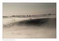Lever du jour sur les côteaux de Drain (Bruno-photos2013) Tags: sunrise loire paysdeloire brume brouillard landscape leverdujour anjou moulin campagne ligérienne paysageligérien