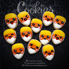 MiniHalloween_CandyCorn (cREEative_Cookies) Tags: creeatve cookies ree halloween hallows dia delos muertos candy skulls typography sugar art decorated cookie decorating party theme desserts holiday dessert zombie eyeball nightmare before christmas jack skellington sandy cupcakes spiders pumpkins jackolanterns leaves platter ghosts corn bats blood bloody cut finger ears butcher 3d