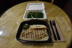 My Barramundi Sea Bass Lunch! (SCSQ4) Tags: fish barramundi sea bass california grill lunch rice kale tabbouleh seasoned olive oil