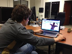 IMG_0152 (studioforcreativeinquiry) Tags: sculpture male cardboard layers torso selfie lasercut maletorso 3dscan bodyscan digitalfabrication kinect jonathanarmistead