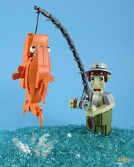 Gone Fishin' (6kyubi6) Tags: fish fishing lego moc ironbuilder 6kyubi6