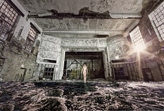 Mirror (Aga La Magica) Tags: woman art abandoned church water beauty dark nude industrial fineart surreal gary methodist artisticnude photographychicago chicagophotography