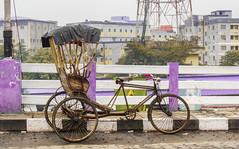 Ricksaw (tathamondal) Tags: bridge india nikon asia hd rickshaw kolkata calcutta slum s6500