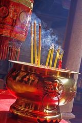 stream (kangxi504) Tags: china red temple gold asia prayer religion  macau incense taoism macao