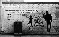 afraid (LucieOnTheBridge) Tags: street brick london art liverpool underground nikon lane fm argentique