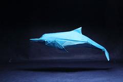 Fumiaki Kawahata. Dolphin (kastudio) Tags: art paper origami dolphin  kawahata fumiaki