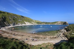 Lulworth Cove (Non Paratus) Tags: uk england water landscape cove lagoon dorset englishchannel lulworthcove