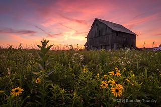 Sunset near Galena, OH