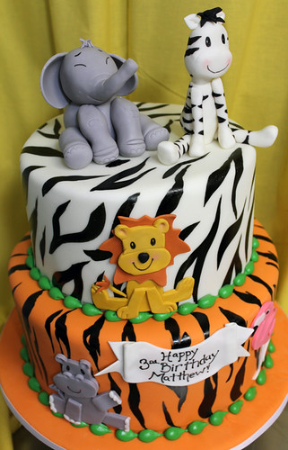 Cute Safari Animal Cake