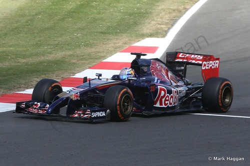 Jean-Eric Vergne in Free Practice 1 at the 2014 British Grand Prix