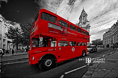 London Routemaster (david gutierrez [ www.davidgutierrez.co.uk ]) Tags: uk travel red england blackandwhite bus london art colors photography unitedkingdom taxi wheels transport perspective stpauls engineering wideangle icon routemaster davidgutierrez pentaxk5