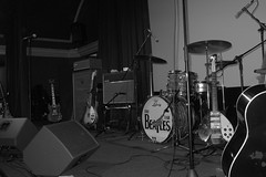 Stage Set Up (Veritas1670) Tags: show leica uk fab england blackandwhite bw music drums blackwhite concert europe gig beatles instruments thebeatles x1 the leicax1