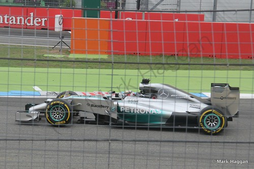 Lewis Hamilton in the 2014 German Grand Prix