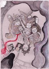 Gaza (casimira parabolica) Tags: art illustration children arte drawing guerra nios dibujo gaza ilustracion