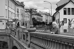 (Tom Plevnik) Tags: street camera new city people urban public landscape photography photo nikon flickr candid places human ljubljana fujifilm bnw