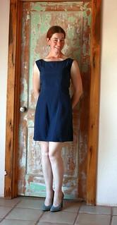 Colette Licorice Blue Silk