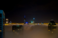Foggy Chicago night - above it all (doug.siefken) Tags: above sky chicago weather fog skyline night lights tide foggy