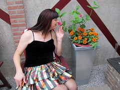 Delightful (Paula Satijn) Tags: flowers girl beauty lady skirt tgirl transvestite miniskirt gurl elegance