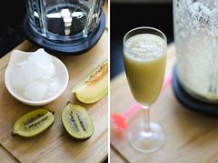 Das de trpico en Holanda (www.naciendoenholanda.com) Tags: kiwi melon smoothie hielo jugo