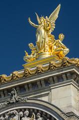 Palacio Garnier u pera de Pars  (2/5) (Juan Ig. Llana) Tags: paris opera escultura musica garnier francia dorado oro palacio polarizador