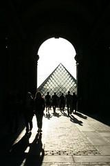 The Louvre (Doodles N' Dabbles) Tags: paris france art silhouette museum architecture pyramid louvre museedelouvre thelouvre louvremuseum