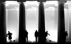 Silhouettes (CoolMcFlash) Tags: people silhouette pillar light night shadow theseustempel vienna bw blackandwhite blackwhite black white monochrome samsung galaxy s5 smartphone leute personen umris säule licht nacht schatten wien sw schwarzweis schwarz weis fotografie photography pose grain körnung bnw