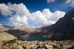 Vishansar lake, Jammu & Kashmir (Bharat Baswani) Tags: blue lake clouds freedom priceless great lakes valley kashmir himalayas glacial apline vishansar harmukh vishnusar