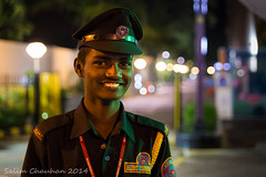 Give me that smile (SCP - www.salim-chauhan.net) Tags: boy india man guy smile hat mall shopping uniform bangalore guard young center security cap value oakwood residence officer