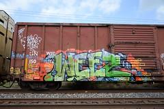 Weez (BoJackson3) Tags: graffiti weez d30 freight weezy wyse a2m