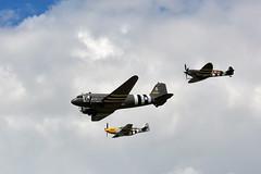Flypast (John A King) Tags: wings wheels north american spitfire mustang douglas dc3 mk ix dunsfold p51d supermarine mh434 413704 2100884