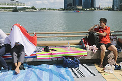 untitled (asaresult) Tags: street city people canon photography singapore streetphotography sunny esplanade 2014 marinabay 700d canon700d