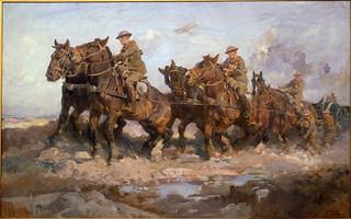 War Art - Bringing up the Guns