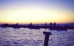 Silhouettes (PattyK.) Tags: sunset sea summer backlight seaside europe silhouettes july greece grecia griechenland sunsetlight grece ilovephotography  bythesea lefkada 2011 amateurphotographer