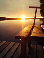 Bye bye summer! (Anni Haavisto) Tags: sunset summer lake nature water suomi finland evening relaxing silence late moment enjoying sunray