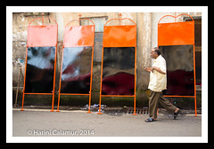 Mumbai - shiv sena boards drying  (1 of 1)