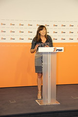Teresa Leal Coelho em Conferência de Imprensa