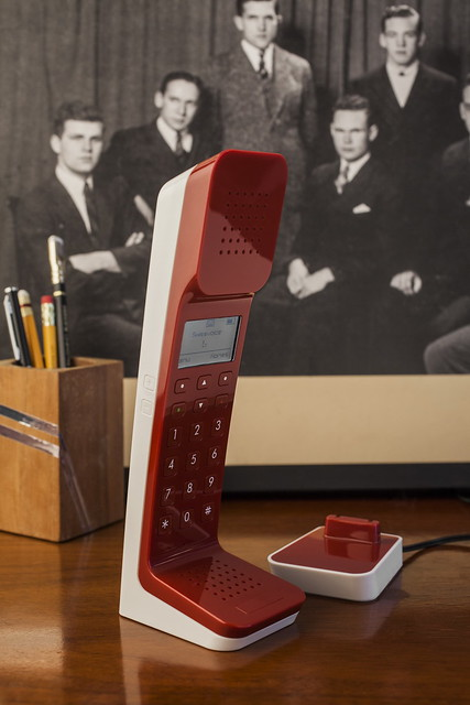 Swissvoice L7無線電話-紅色款