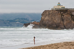 amphitrite as a girl (pbo31) Tags: ocean sanfrancisco california summer people brown color beach girl northerncalifornia swimming greek nikon rocks surf pacific tide goddess august shore oceanbeach oceans 2014 amphitrite outerrichmond d700
