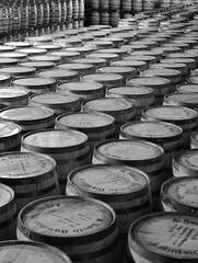 Bourbon Barrels (pjpink) Tags: summer blackandwhite bw virginia barrels barrel july storage bourbon fredericksburg aging distillery 2014 pjpink asmithbowman