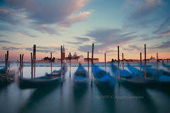 Venice Long Time (Ag-NO3 Angelo Sampino) Tags: venice sunset sea sky landscape boats nikon san long tramonto mare time blu © barche cielo gondola laguna angelo venezia paesaggio giorgio giudecca agno3 d700 sampino sampinoangelo