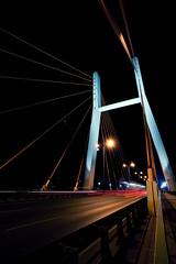 Siekierkowski Bridge (Bartek Krawczyk) Tags: bridge by night warsaw pillars siekierkowski