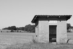 Summer of '69 (old_olsen) Tags: 1969 concrete blackwhite busstop ddr bushaltestelle gdr beton warten mecklenburgvorpommern tarnow mecklenburgischeseenplatte luplow rosenow