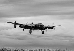 "Canadian Lancaster ""Vera"" at the Avro Three Sisters event at RAF Waddington 21.8.14 (Robert L Whitehead) Tags: merlin threesisters lancaster vulcan bomber vera command raf thumper avro waddington bbmf xh558"